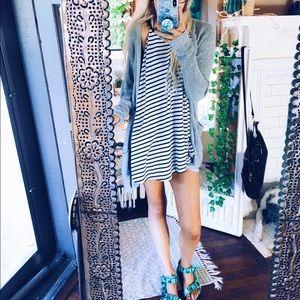 Artists Tank Dress B+W Striped Ana 101